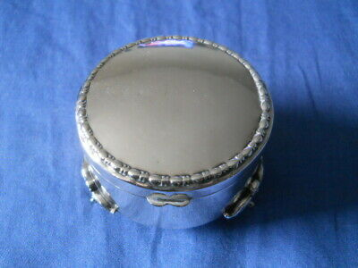 Antique Birmingham Sterling Silver Footed Jewelry Box