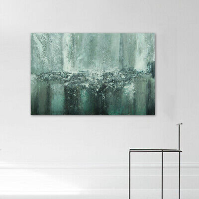 Hand-Painted Oil Painting - Waterfall| Modern Abstract Wall Art Decor With Frame