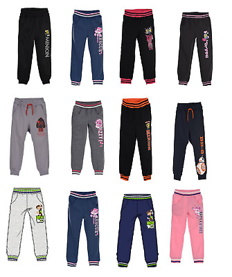 Boys &Girls Kids character Jogging Tracksuit Bottoms Trousers 2-12 YEARS