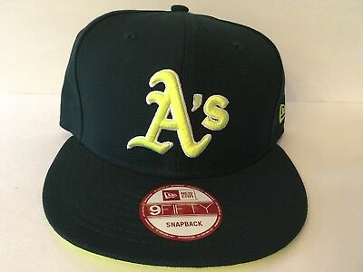 sale retailer 50186 09b47 MLB Oakland Athletics New Era Neon A s 9FIFTY Snapback Cap Hat