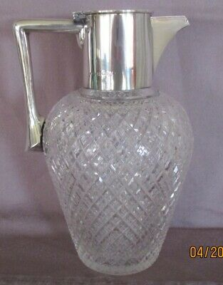 Fine Silver Mounted Claret Jug  John Grinsell And Sons Birmingham 1913