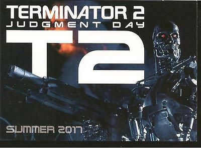 TERMINATOR 2 JUDGEMENT DAY Arnold Schwarzenegger Unstoppable Cards Promo Card T2