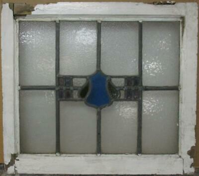"MID SIZED OLD ENGLISH LEADED STAINED GLASS WINDOW Pretty Abstract 23.25"" x 20.5"""