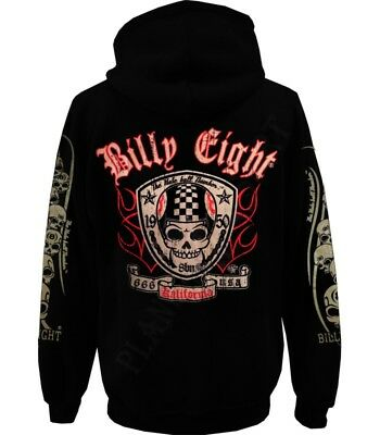 "Sweat capuche Billy Eight fermeture zip ""Kalifornia 666"""
