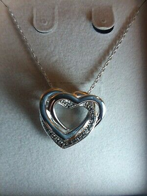 ca3167c915314 DIAMOND ACCENT DOUBLE Loop Heart Necklace in Sterling Silver Zales ...
