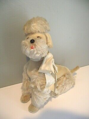 "Vintage Steiff Poodle Dog Mohair Stuffed Animal Toy Germany ""Snobby"" 14"" Jointed"