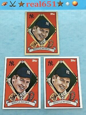 2008 Topps + Chrome Trading Card History MICKEY MANTLE Lot x 3 Yankees HOF Batch