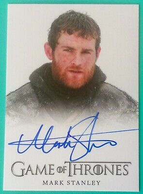 GAME OF THRONES SEASON 4 MARK STANLEY as GRENN AUTOGRAPH CARD