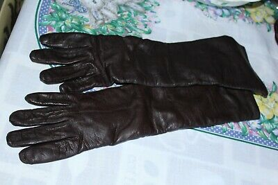 Vintage Long Leather Gloves Made In Italy