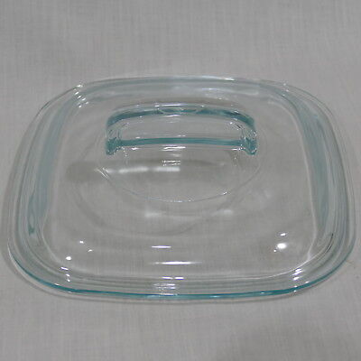 """Pyrex Glass 7"""" Square Replacement Lid 648-C ~ For Corning Ware Simply Lite"""
