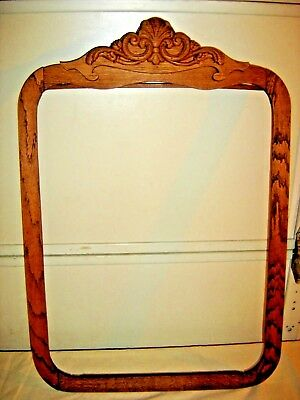 Antique Oak Mirror Frame with Applied Carving  Vertical rectangular shape - 152