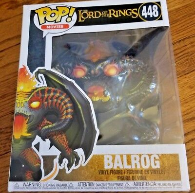 "Funko Pop Movies The Lord of the Rings - Balrog 448 6"" Figure"