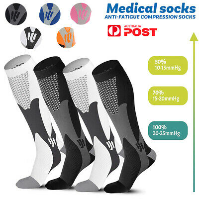Men Women Knee High Copper Compression Socks For Winter Sports Running Fitness