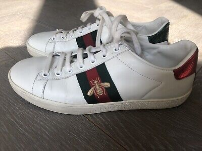4313f8ce81a GUCCI ACE EMBROIDERED sneakers Black Unisex Womens Sz 8 Mens Sz 5.5 ...