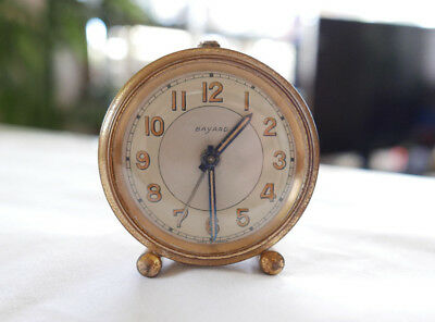 Vintage BAYARD Alarm Clock Brass Working