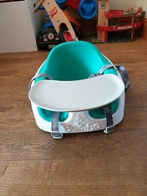 Bumbo Baby Seat With TrayGreen/blue/turquoise used good condition