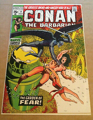 Conan The Barbarian # 9 - Barry Smith Art / Cents - Marvel 1971