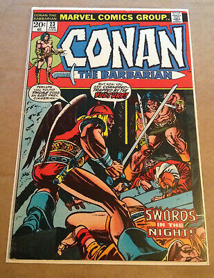 Conan The Barbarian # 23 - 1St App Red Sonja / Barry Smith / Cents - Marvel 1973