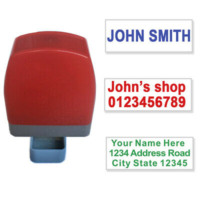 Custom Name Address Self Inking Rubber Stamp Signature Office 31x10mm 1-3 lines