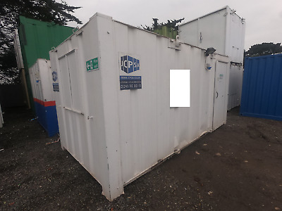 16ft x 8ft SITE OFFICE PORTABLE BUILDING SITE CABIN ANTI VANDAL 2000 + VAT OFFER
