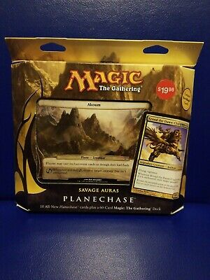 Magic the Gathering MTG Planechase 2012 Savage Auras Factory Sealed Deck