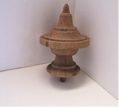 """Antique Wooden Finial or Cap 5"""" Tall Walnut Architectural Salvage"""