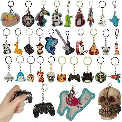 Fun Novelty Keyring Colourful Leather Enamel  Resin Metal Collectable Keyrings