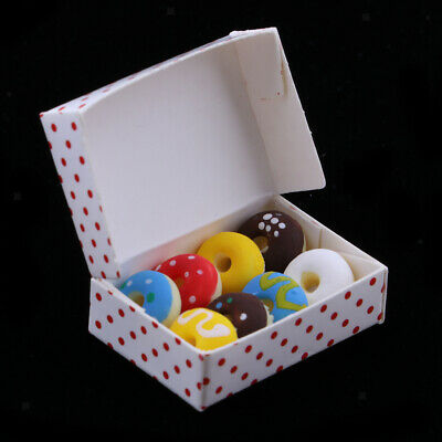 Dollhouse Miniatures 1:12 Doughnut Box Kitchen Accessories Room Items Decor