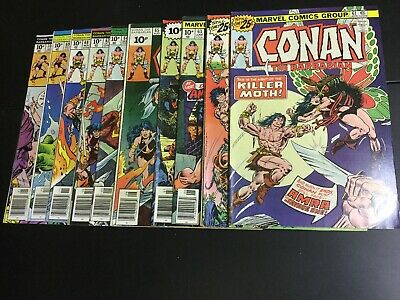 10x CONAN THE BARBARIAN no. 61-70, Marvel Comics, 1976/77,