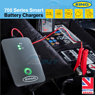 Ring RSC704 12v 4A Start/Stop Car Maintenance Automatic Smart Battery Charger