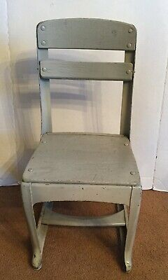 Rare Vintage Industrial Childs School Chair American Seating Co. 1930's