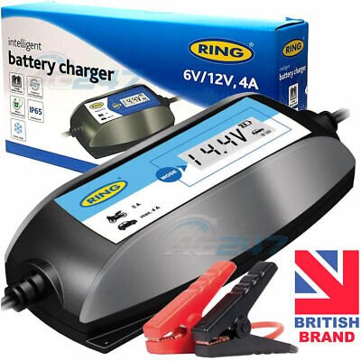 Ring RSC404 6v 12v Digital 4A Intelligent Smart Car Motorbike Battery Charger