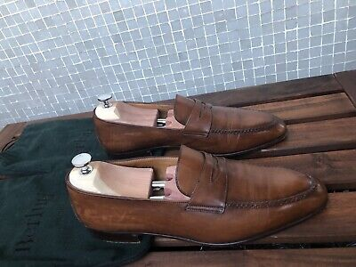 91008fd5880 Chaussures Berluti Mocassins 9 43 Cuir Marron Brown Leather Loafers Shoes  1670€