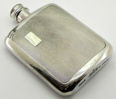 Vintage Silver Plated Hip Flask, By James Dixon