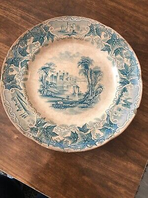 Extremely Old Antique Vintage Conway Castle Attic Find Display Plate 99p