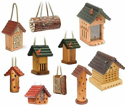 Garden Wooden Bee Insect Bug Nest - Wood Butterfly Nesting Hotel House Box