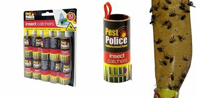 Fly Paper Sticky Glue Insect Bug Catcher Killer Strong Roll Tape Strip UK