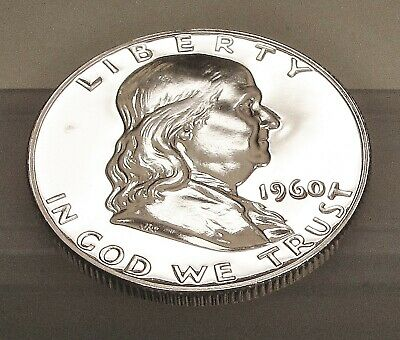 1960   Franklin   Proof   90% Silver > Bright  Mirrored  Surfaces <  #421  38