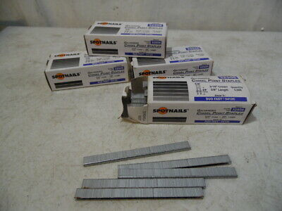 """4 Box 20000 Pc 3/16"""" X 3/8"""" Galvanized Chisel Point Crown Staples As Duo Fast"""