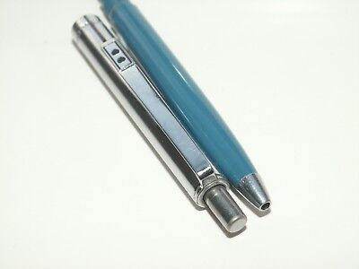 Paper Mate 'Profile' Ballpoint Pen. Sky Blue/Chrome Plated Cap. Near Mint Cond.