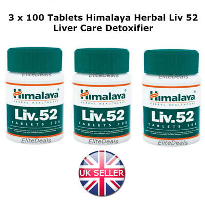 3 x Himalaya Herbal LIV52 LIV 52 LIV.52 Liver Care Digestion Detoxifier Tablets