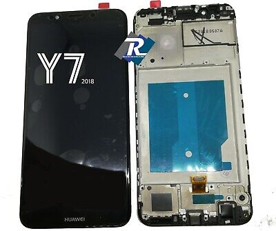 TOUCH LCD DISPLAY Huawei Y7 2018 LDN-L01 LDN-L21 NERO + FRAME