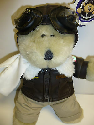 Starbucks Coffee Bearista 32 32nd Edition Aviator Plush Bear Pilot   NWT A72