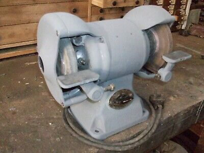 """Wolf 6"""" old double ended bench grinder."""