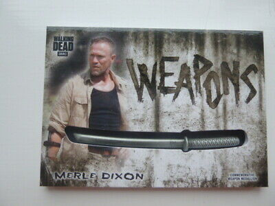 The Walking Dead Hunters & The Hunted Merle Dixon Weapon Medallion Card WM-KMD