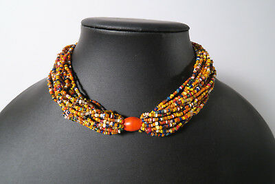 Altes Collier Naga Glasperlen Seed beads N1 traditional beads 35cm Afrozip