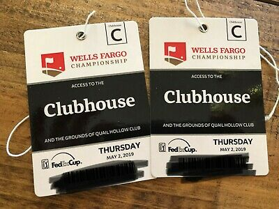 Wells Fargo Championship 2 Clubhouse Tickets Thursday, May 2, 2019 First Round
