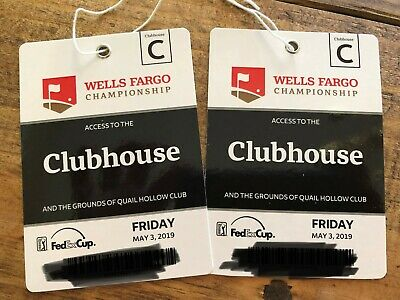 Wells Fargo Championship 2 Clubhouse Tickets Friday, May 3, 2019