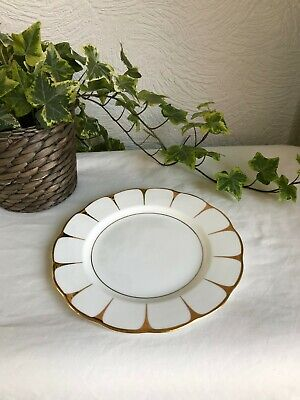 Vintage Royal Vale Side Plate Gold Rim Daisy Pattern Bone China in VGC