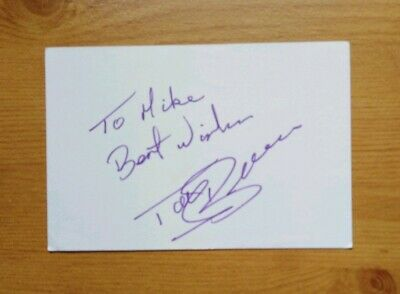 Autograph .. Tony Brown WBA .. West Bromwich Albion, And England 1963 To 1980